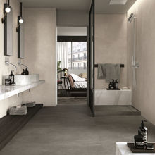 "Modern Italian Porcelain Tile 6"" x 24"", Clear Spazzolata"