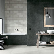 "Modern Italian Porcelain Tile 31 1/2"" x 31 1/2"", Absolute Spazzolata"