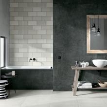 "Modern Italian Porcelain Tile 48"" x 48"", Absolute Spazzolata"