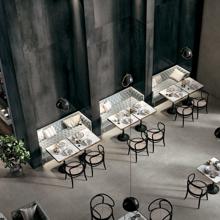 """Modern Italian Porcelain Tile 31 1/2"""" x 31 1/2"""", Iron Spazzolata"""