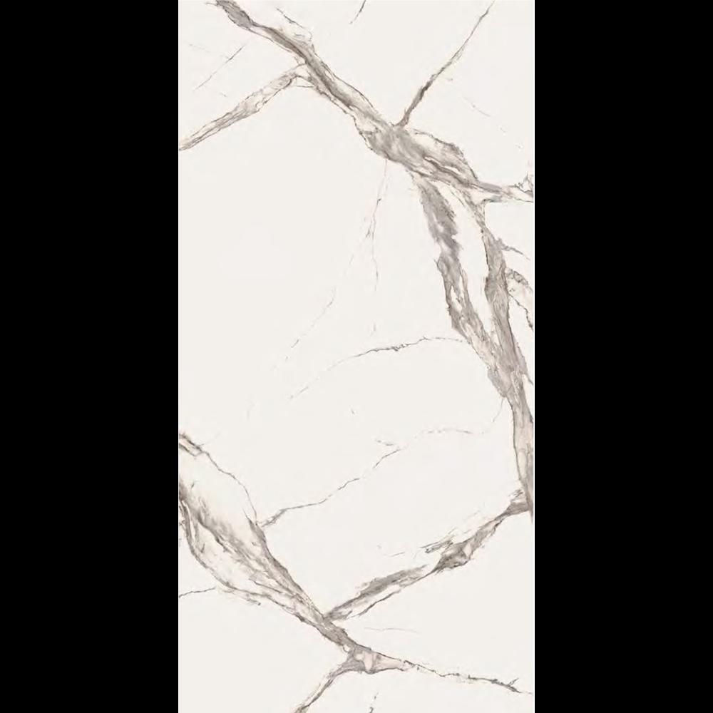 "Italian Calacatta Statuario Slab D, Matt Beige 63"" x 126"", 12mm"