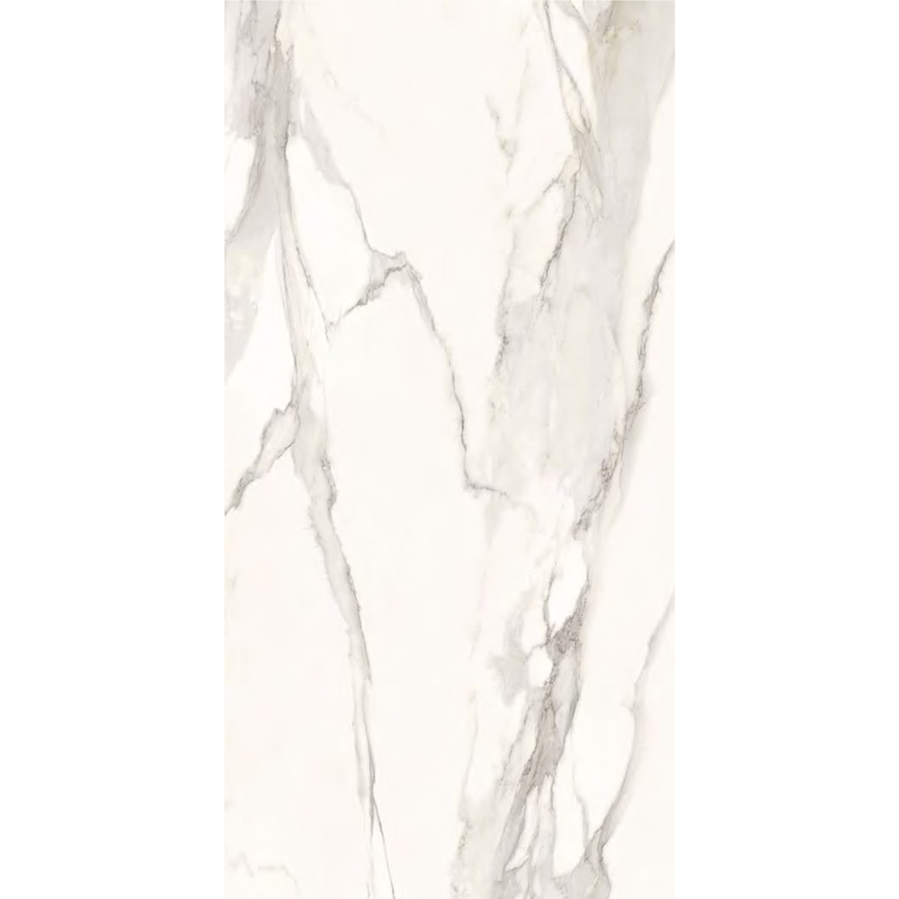 "Italian  Elegant Slab A,Nat White 63"" x 126"", 12mm"