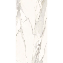 "Italian  Elegant Slab A, White 63"" x 126"", 6.5mm"