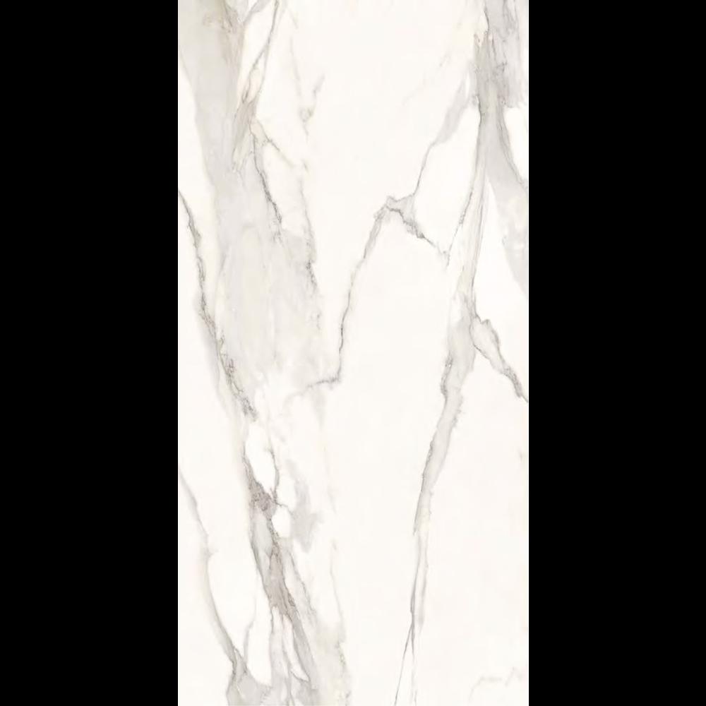 "Italian  Elegant Slab B, White 63"" x 126"", 6.5mm"