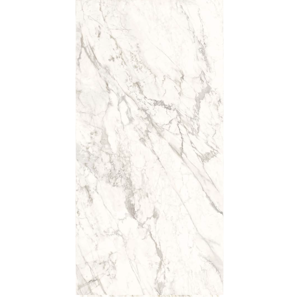 "Italian  Silver White Slab B, 63"" x 126"", 6.5mm"
