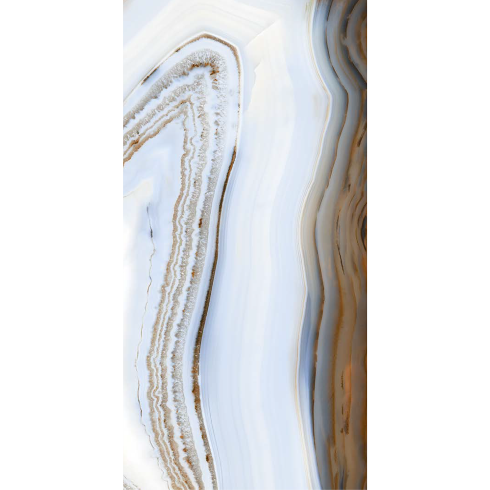 "Italian  Agate Blend Slab B, White 63"" x 126"", 6.5mm"