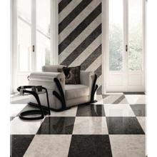 "Versace Italian Antique Brown Bianco Porcelain Tile 23"" x 46"", Meteorite"