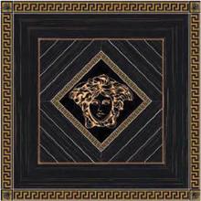 "Versace Italian Rosone Ebano Oro Porcelain Tile 46"" x 46"", Villa"