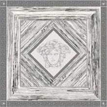 "Versace Italian Rosone Ziricote Bianco Nero Platino Porcelain Tile 46"" x 46"", Villa"