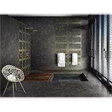 "Versace Italian Antracite Porcelain Tile 31"" x 71"", Greek"