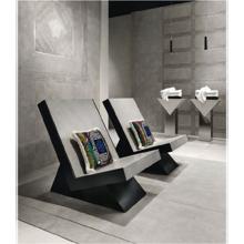 "Versace Italian Grigio Porcelain Tile 31"" x 71"", Greek"