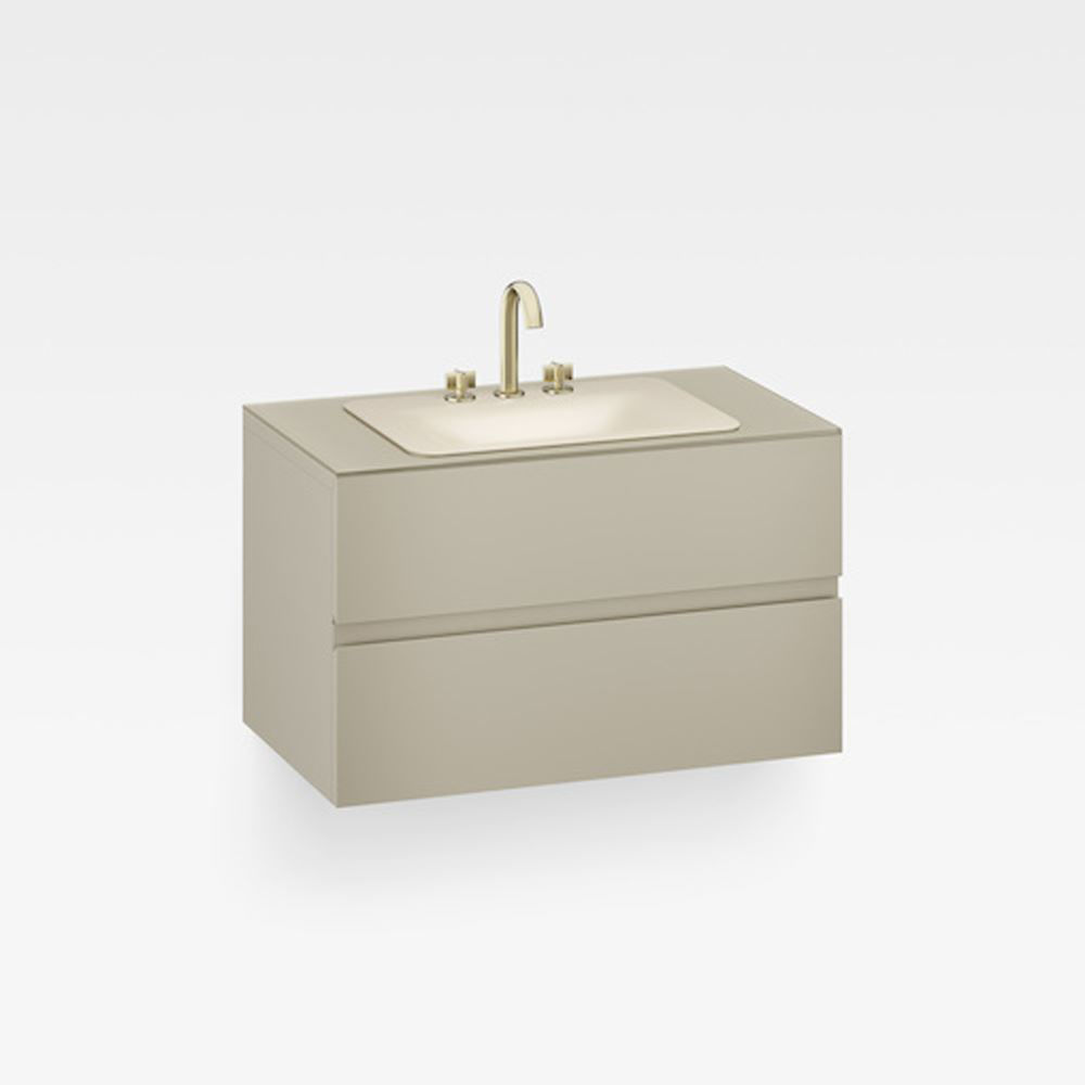 "Italian Modern Bathroom Vanity Cabinet, Armani 40"" Greige"