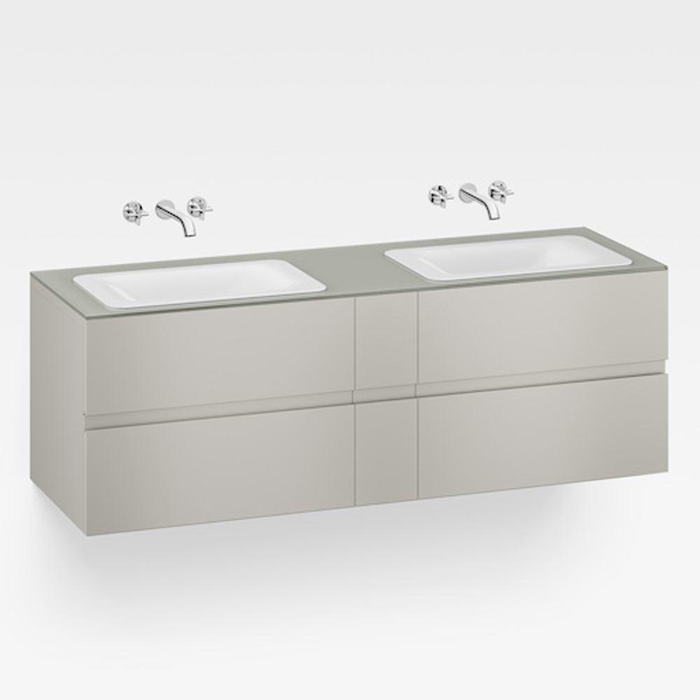 """Italian Modern Bathroom Vanity Set, Armani 71"""" Silver, GW"""