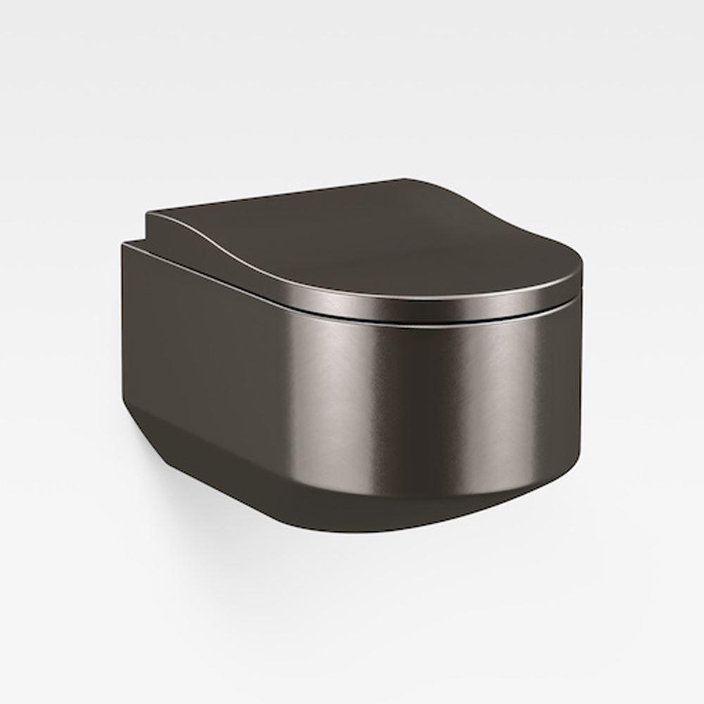 Italian Modern Wall-Hung Toilet, Armani Dark Metallic