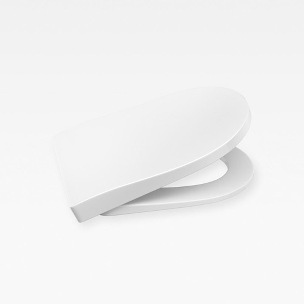 Italian Modern Soft-Closing Seat And Cover, Armani Glossy White