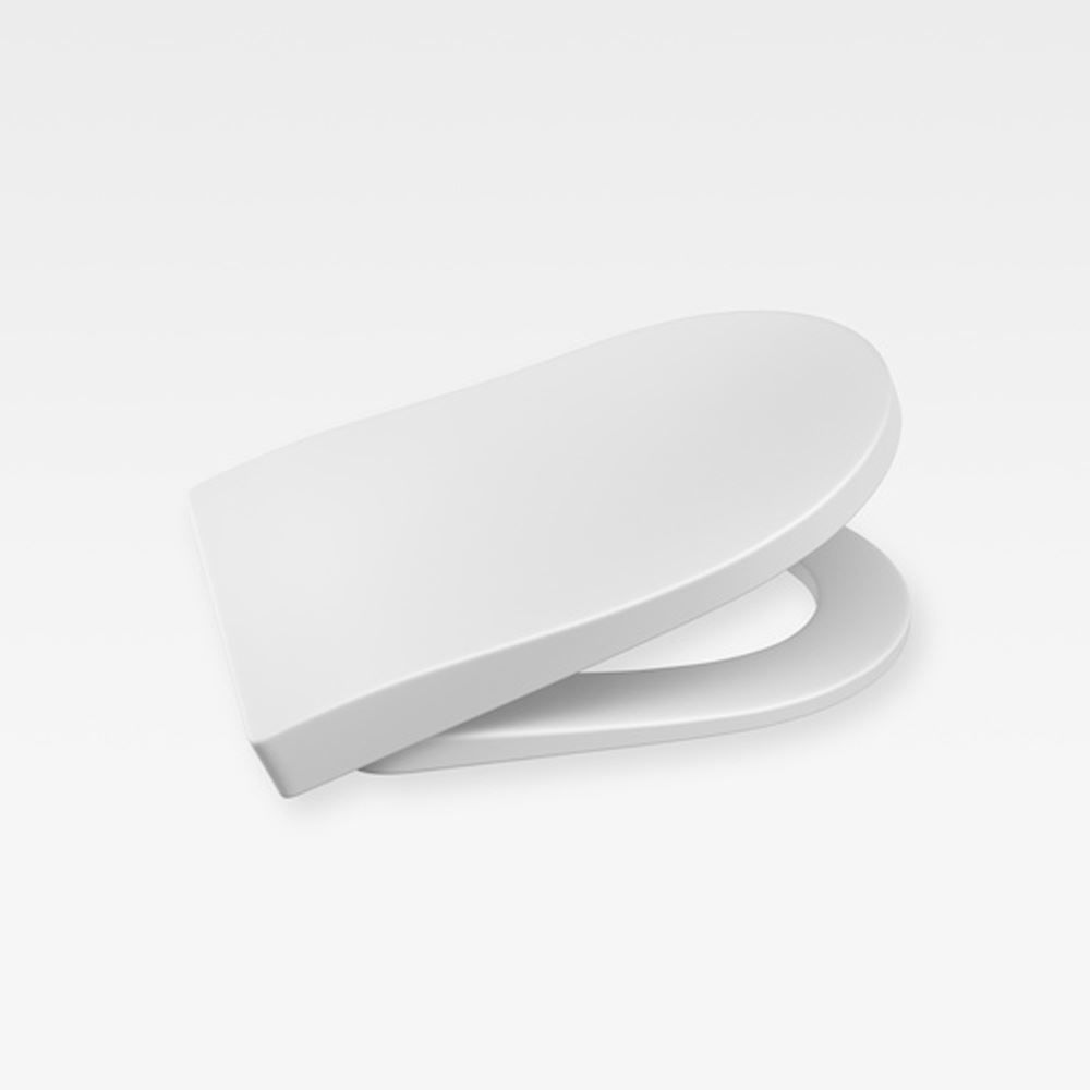 Italian Modern Soft-Closing Seat And Cover, Armani Off-White