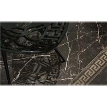 "Versace Italian Amasanta Nero Porcelain Tile 15"" x 31"", Emote"