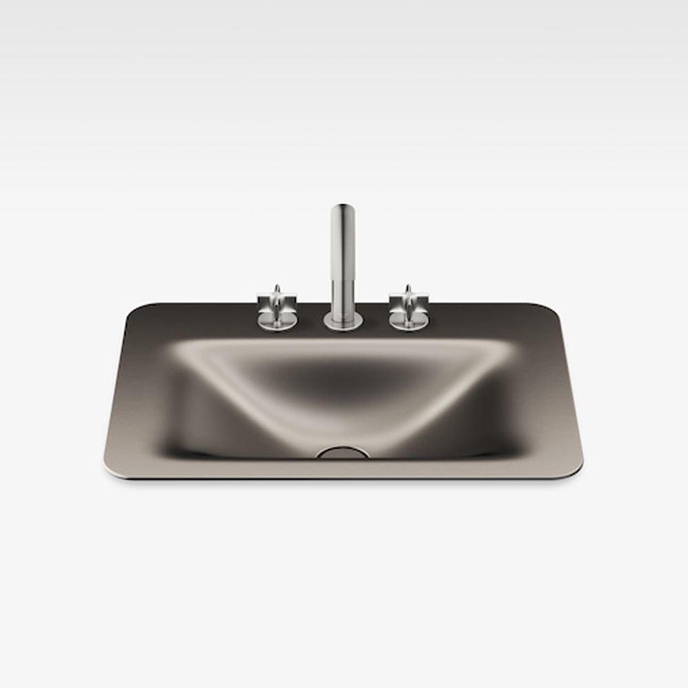 "Italian Modern Bathroom Vanity Sink And Faucet, Armani 26"" Nero, DM"