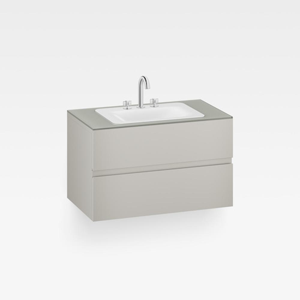 """Italian Modern Bathroom Vanity Set, Armani 40"""" Silver, GW"""