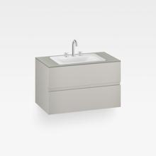"Italian Modern Bathroom Vanity Set, Armani 40"" Silver, OW"