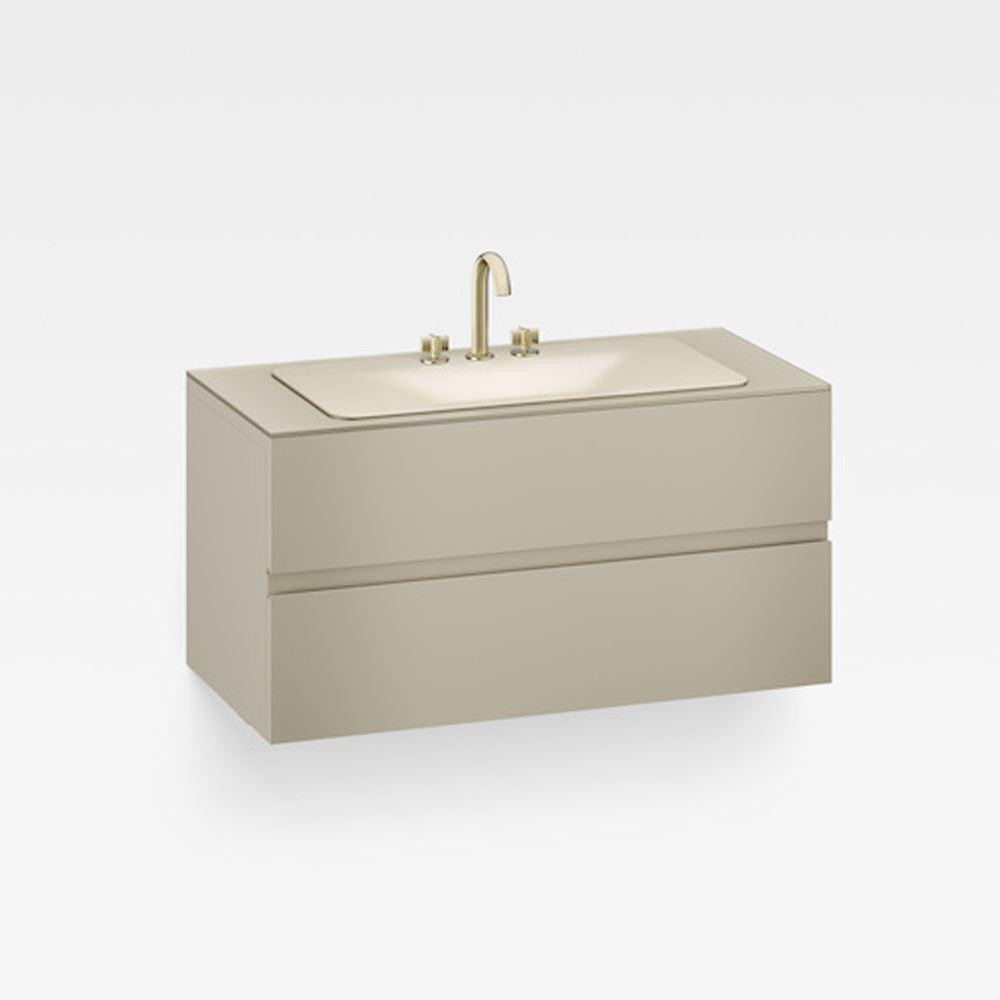 "Italian Modern Bathroom Vanity Cabinet, Armani 48"" Greige"
