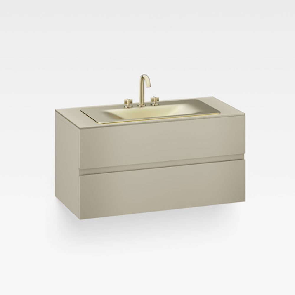 """Italian Modern Bathroom Vanity Set, Armani 48"""" Greige, MG"""