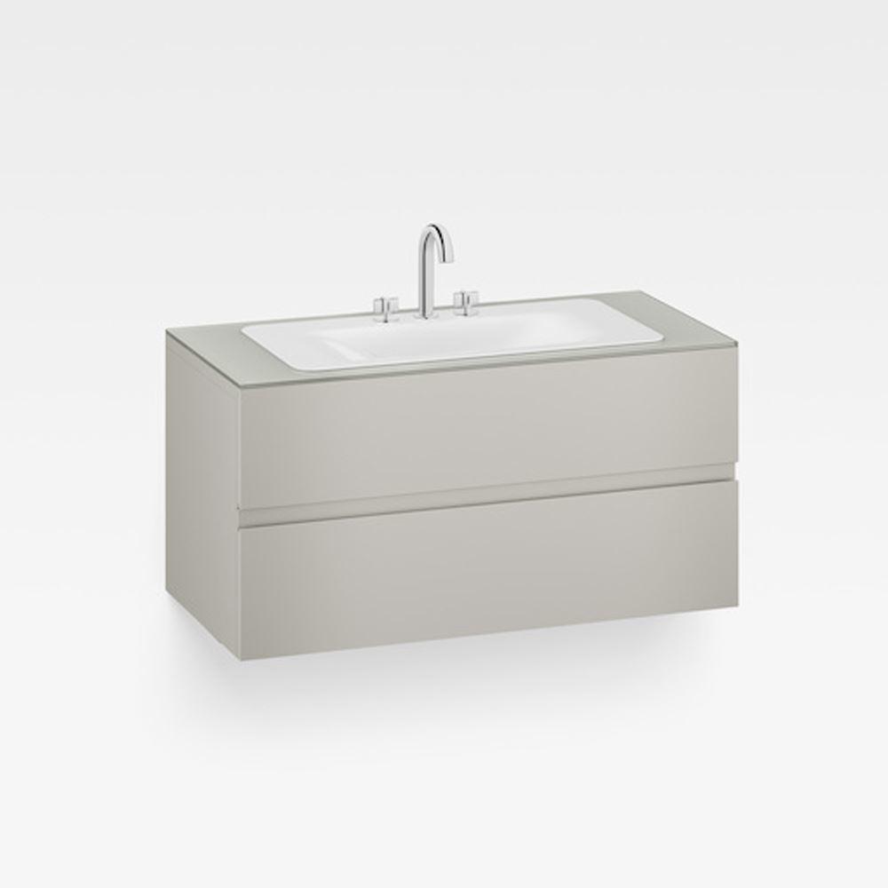 """Italian Modern Bathroom Vanity Set, Armani 48"""" Silver, GW"""