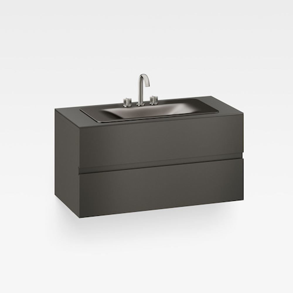 "Italian Modern Bathroom Vanity Cabinet, Armani 48"" Nero"