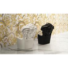 "Versace Italian Statuario White Polished Porcelain Slab A 47"" x 109"", Maximvs"