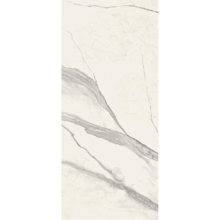"Versace Italian Statuario White Polished Porcelain Slab B 47"" x 109"", Maximvs"