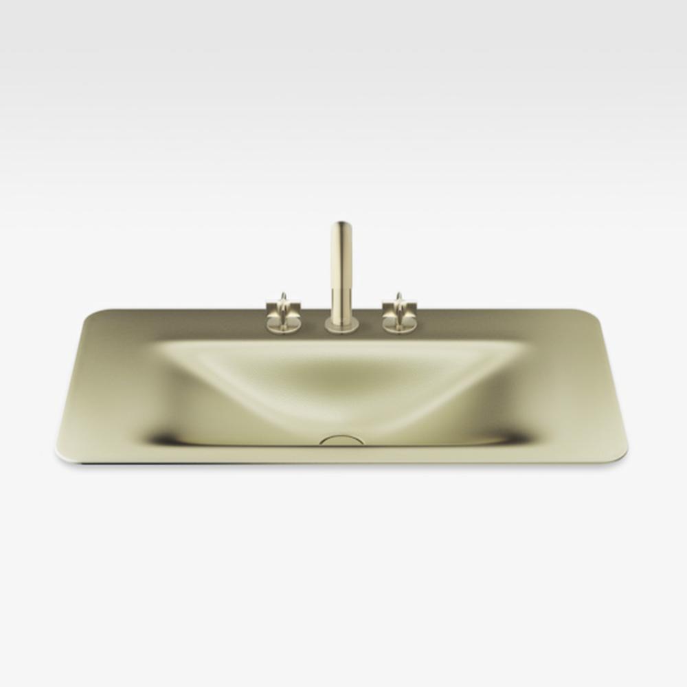 "Italian Modern Bathroom Vanity Sink And Faucet, Armani 36"" Greige, SMG"