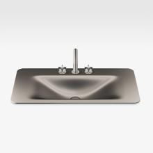 "Italian Modern Bathroom Vanity Sink And Faucet, Armani 36"" Nero, DM"