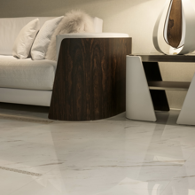 "Versace Italian Bianco Lappato Porcelain Tile 23"" x 23"", Marble"
