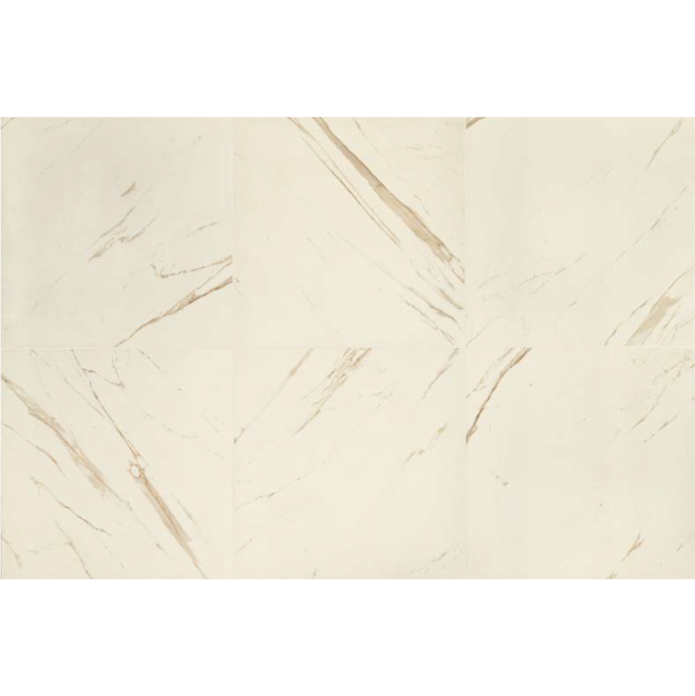 "Versace Italian Bianco Polished Porcelain Tile 23"" x 46"", Marble"