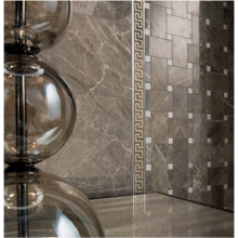 "Versace Italian Grigio Polished Porcelain Tile 23"" x 23"", Marble"