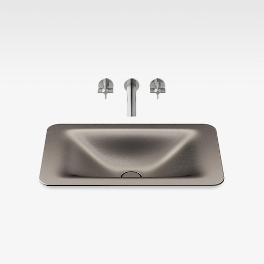 """Italian Modern Bathroom Vanity Sink, Armani 26"""" Shagreen Dark Metallic"""