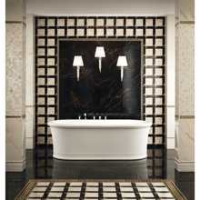 "Versace Italian Nero Polished Porcelain Tile 23"" x 23"", Marble"
