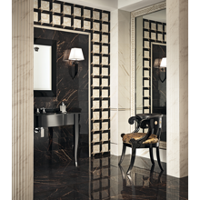 "Versace Italian Nero Polished Porcelain Tile 23"" x 46"", Marble"