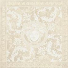 "Versace Italian Rosone Bianco Porcelain Tile 46"" x 46"", Marble"