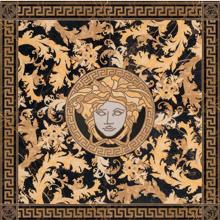 "Versace Italian Rosone Nero Porcelain Tile 46"" x 46"", Marble"