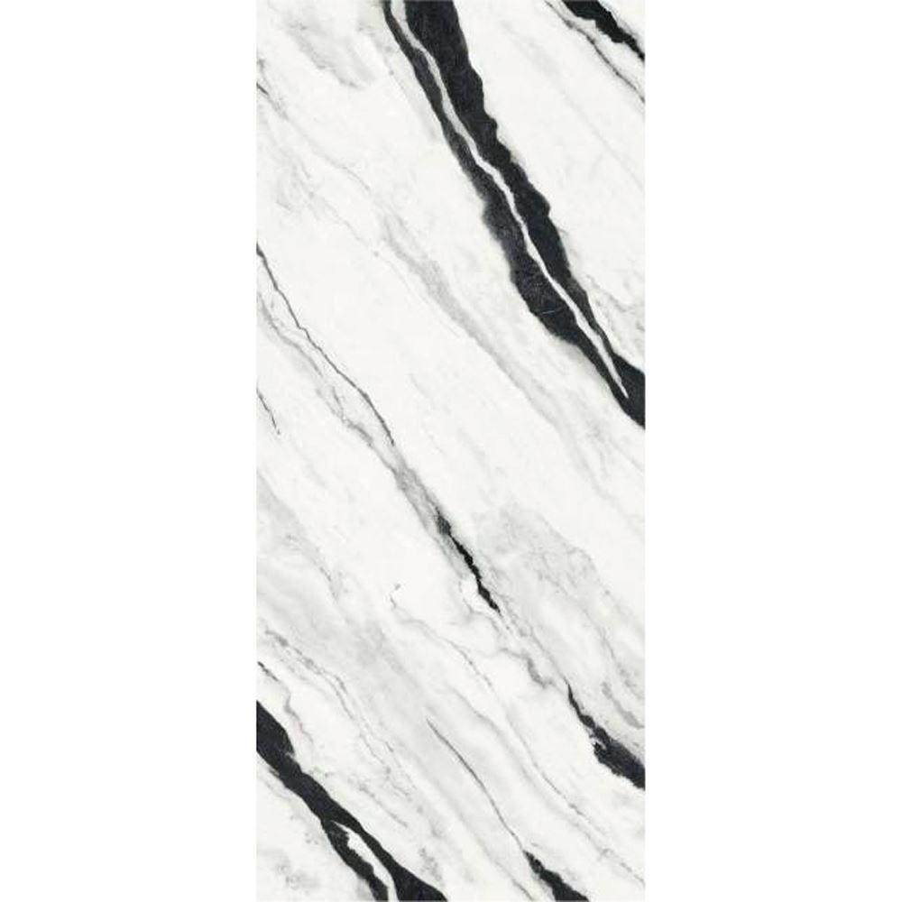 "Versace Panda White Polished Porcelain Slab D 47""x 109"", Maximvs"