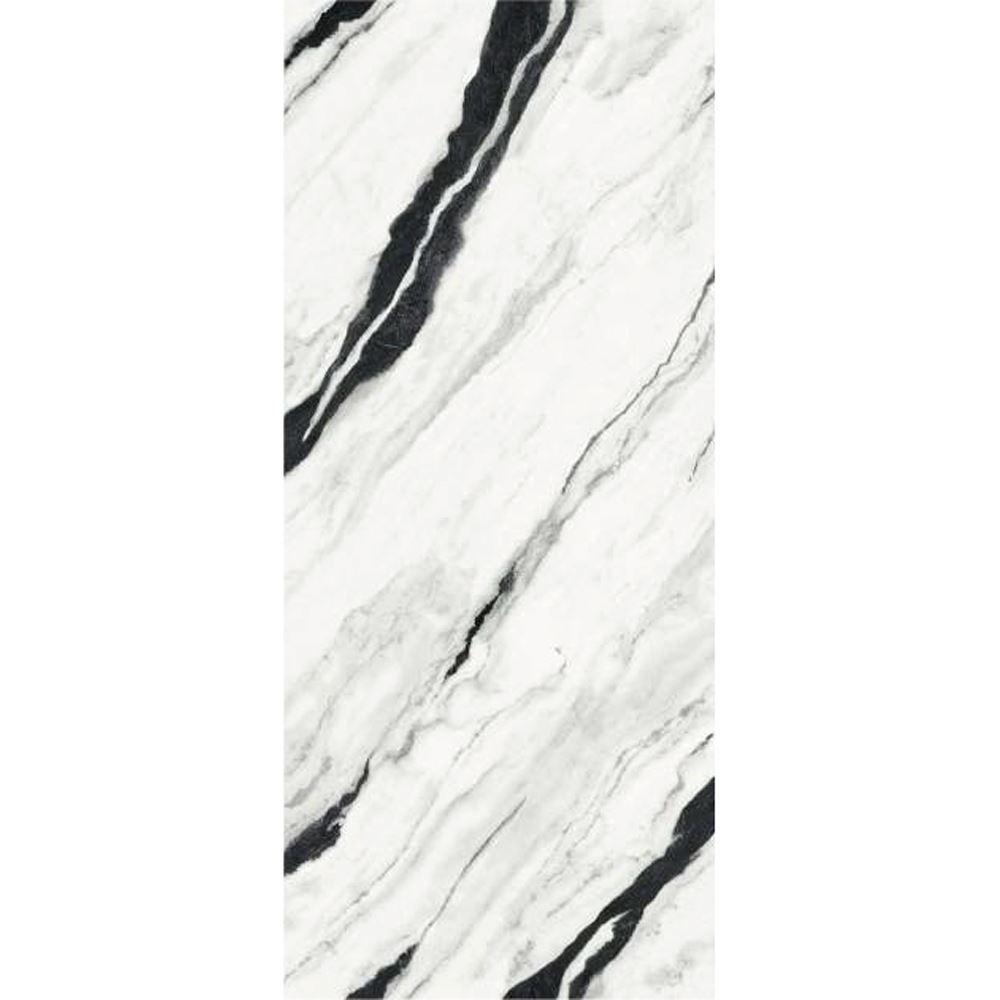 "Versace Panda White Polished Porcelain Slab C 47""x 109"", Maximvs"