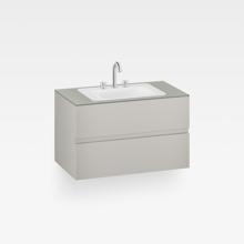 "Italian Modern Bathroom Vanity Cabinet, Armani 40"" Silver"