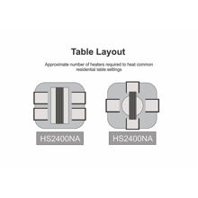 Baurora 1800W Space Heater Table Layout