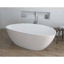 """Picture of Chiara 67"""" White Contemporary Freestanding Bathtub"""