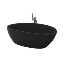 "Picture of Chiara 67"" Black Contemporary Freestanding Bathtub"