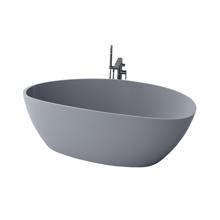 "Picture of Chiara 67"" Gray Contemporary Freestanding Bathtub"