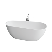 "Picture of Capri White Contemporary 67"" Freestanding Bathtub"