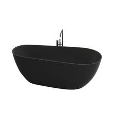 "Picture of Capri Black Contemporary 67"" Freestanding Bathtub"