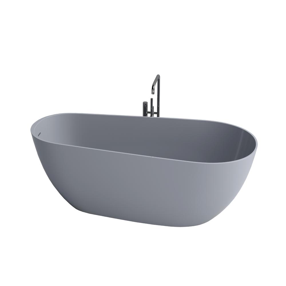 """Picture of Capri Gray Contemporary 67"""" Freestanding Bathtub"""